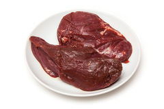 Uncooked kangaroo meat steaks Stock Photo