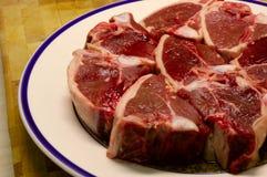 Uncooked Lamb Chops stock image