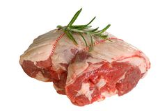 Uncooked lamb joint Royalty Free Stock Images