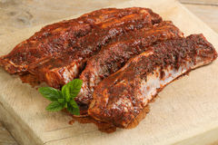 Uncooked lamb ribs Royalty Free Stock Photography