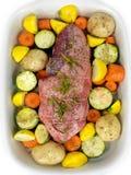 Uncooked Lamb Roast Royalty Free Stock Photos