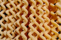 Uncooked long fusilli pasta Royalty Free Stock Images