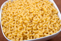 Uncooked macaroni Stock Photography