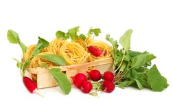 Free Uncooked Macaroni And Radish Royalty Free Stock Photos - 5216328