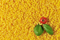 Uncooked macaroni background Stock Image