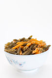 Uncooked macaroni Stock Images