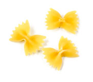 Uncooked macaroni, farfalle Stock Photos