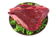 Uncooked meat on plate Royalty Free Stock Photos