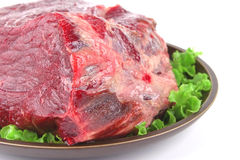 Uncooked meat on plate Royalty Free Stock Image