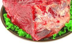 Uncooked meat on plate Royalty Free Stock Images