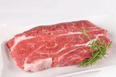 Uncooked meat : raw fresh beef pork fillet Stock Photography
