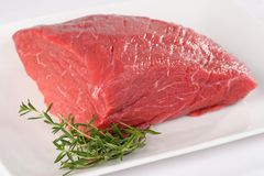 Uncooked meat : raw fresh beef pork fillet. Ready to cooking Royalty Free Stock Photography