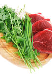 Uncooked meat : raw fresh beef Royalty Free Stock Photos