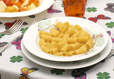 Uncooked Mezzemaniche Pasta Stock Images