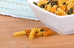 Rotini pasta Royalty Free Stock Photography