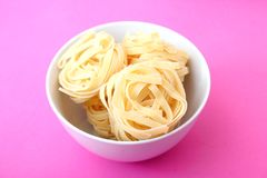 Uncooked noodles Royalty Free Stock Photos