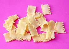 Uncooked noodles Stock Image