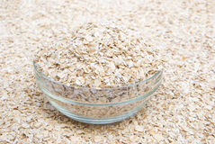 Uncooked oatmeal Stock Photos