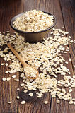 Uncooked oatmeal Obraz Stock
