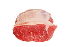Uncooked outside round roast beef Royalty Free Stock Photos