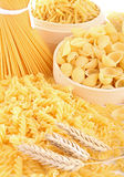 Uncooked pasta Royalty Free Stock Photo