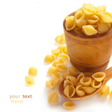 Uncooked pasta Stock Images