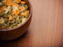 uncooked pasta Royaltyfri Fotografi