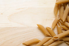 Uncooked pasta border Stock Photography