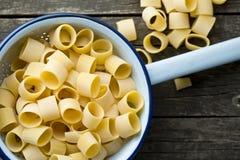 Uncooked pasta calamarata Stock Image