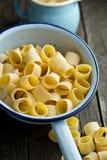 Uncooked pasta calamarata Royalty Free Stock Image