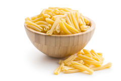 Uncooked pasta caserecce in bowl Royalty Free Stock Photos