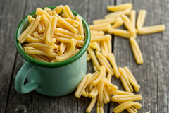 Uncooked pasta caserecce Royalty Free Stock Photography