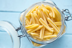 Uncooked Pasta Caserecce In Jar Royalty Free Stock Photo