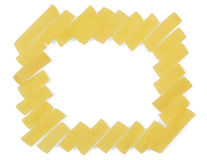 Uncooked pasta frame Royalty Free Stock Photos