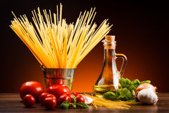 Pasta and fresh vegetables Royalty Free Stock Photography
