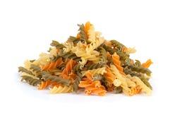Uncooked pasta fusilli Royalty Free Stock Image