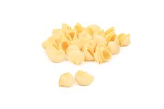 Uncooked pasta lumaconi. Royalty Free Stock Photos