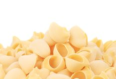 Uncooked pasta lumaconi. Royalty Free Stock Photography