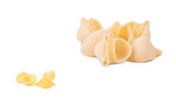 Uncooked pasta lumaconi. Stock Photos