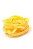 Uncooked pasta nest Stock Image