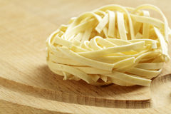 An uncooked pasta nest Royalty Free Stock Photos