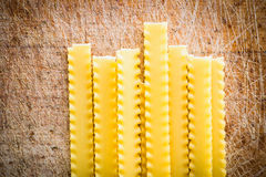 Uncooked pasta o Royalty Free Stock Image