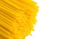 Uncooked pasta spaghetti  isolated on white background Stock Image