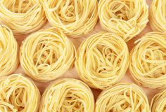 Uncooked pasta spaghetti macaroni Stock Photo