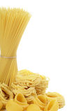 Uncooked pasta spaghetti macaroni Royalty Free Stock Photo