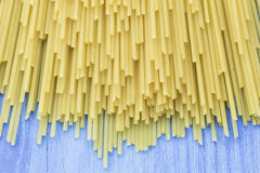 Uncooked pasta spaghetti Stock Photography