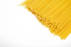 Uncooked pasta spaghetti macaroni isolated on white background Royalty Free Stock Images