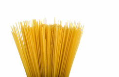 Uncooked pasta spaghetti macaroni isolated Stock Photography