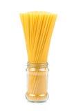 Uncooked pasta spaghetti macaroni Stock Photos