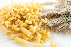 Uncooked pasta from wheat flour Stock Photography